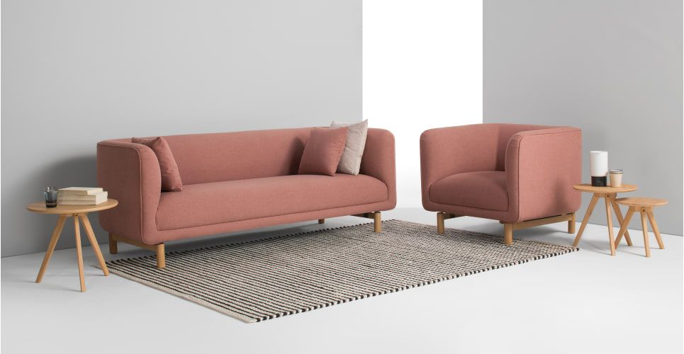 3 Seater Sofa Dust Pink Made Com Seater Sofa 3 Seater Sofa Leather Couches For Sale