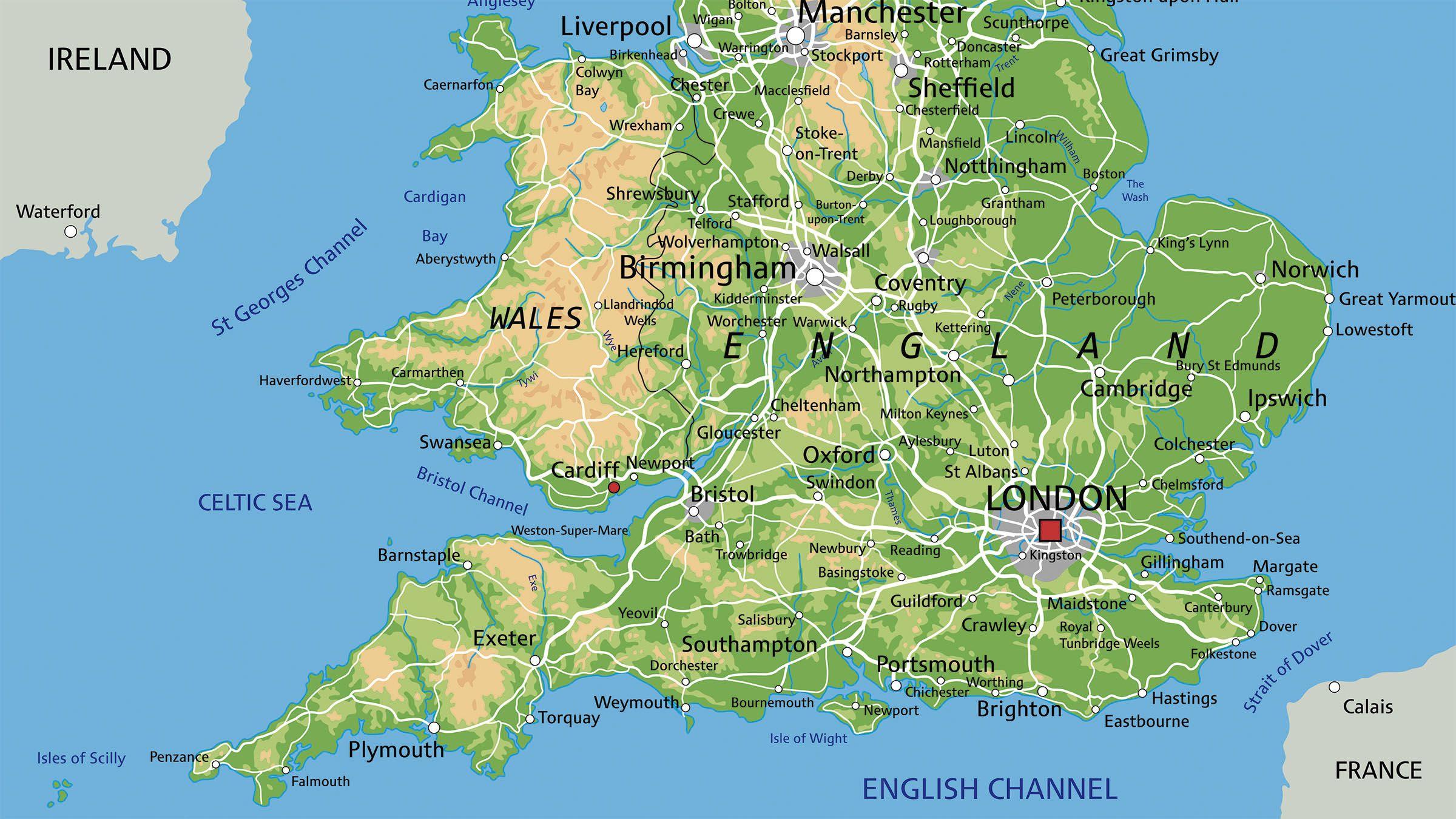 bristol inglaterra mapa Mapa de Inglaterra | Inglaterra: Londres, Liverpool, Bristol  bristol inglaterra mapa