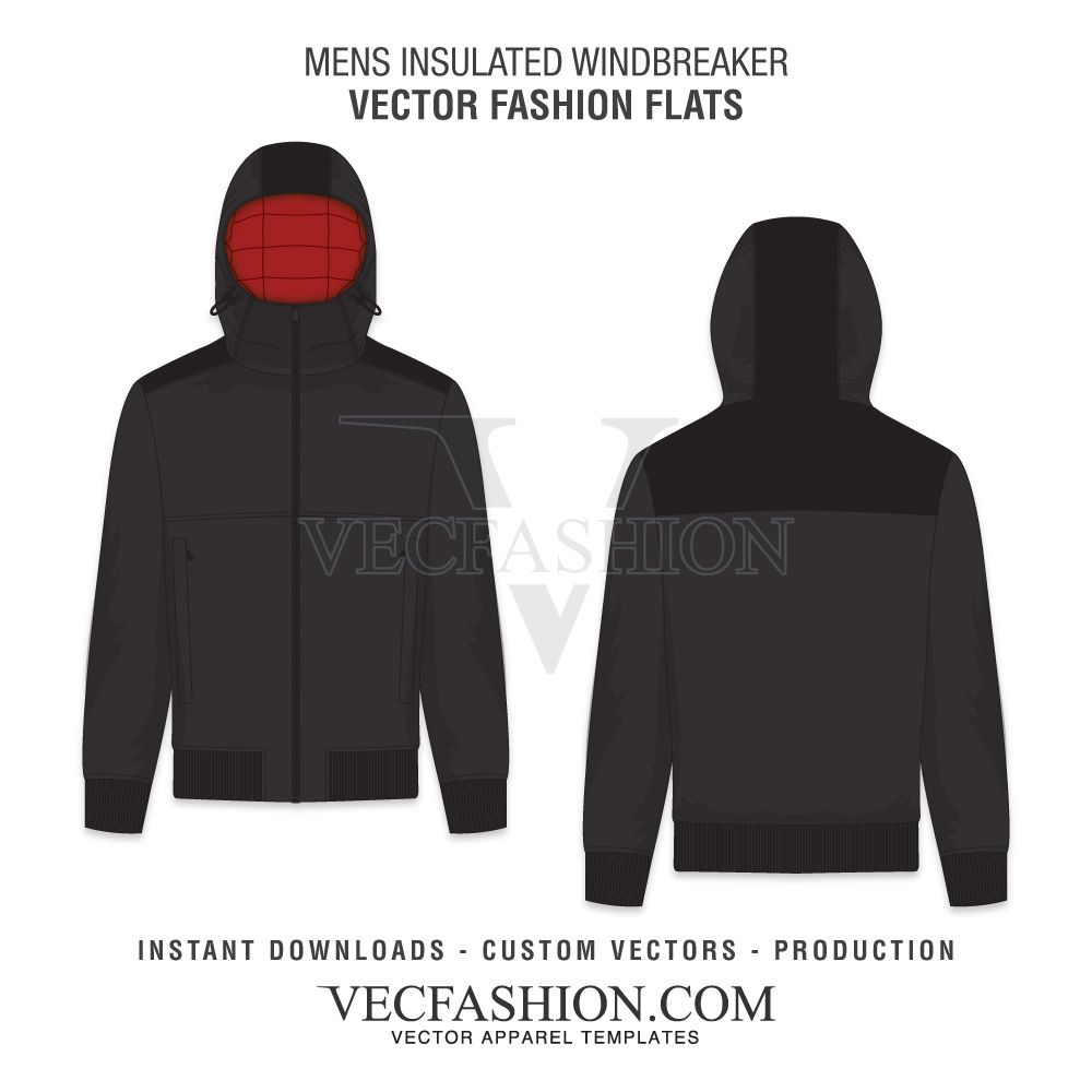 44614aede Men Fashion Hoodie Fashion Flat by VecFashion on Creative Market ...