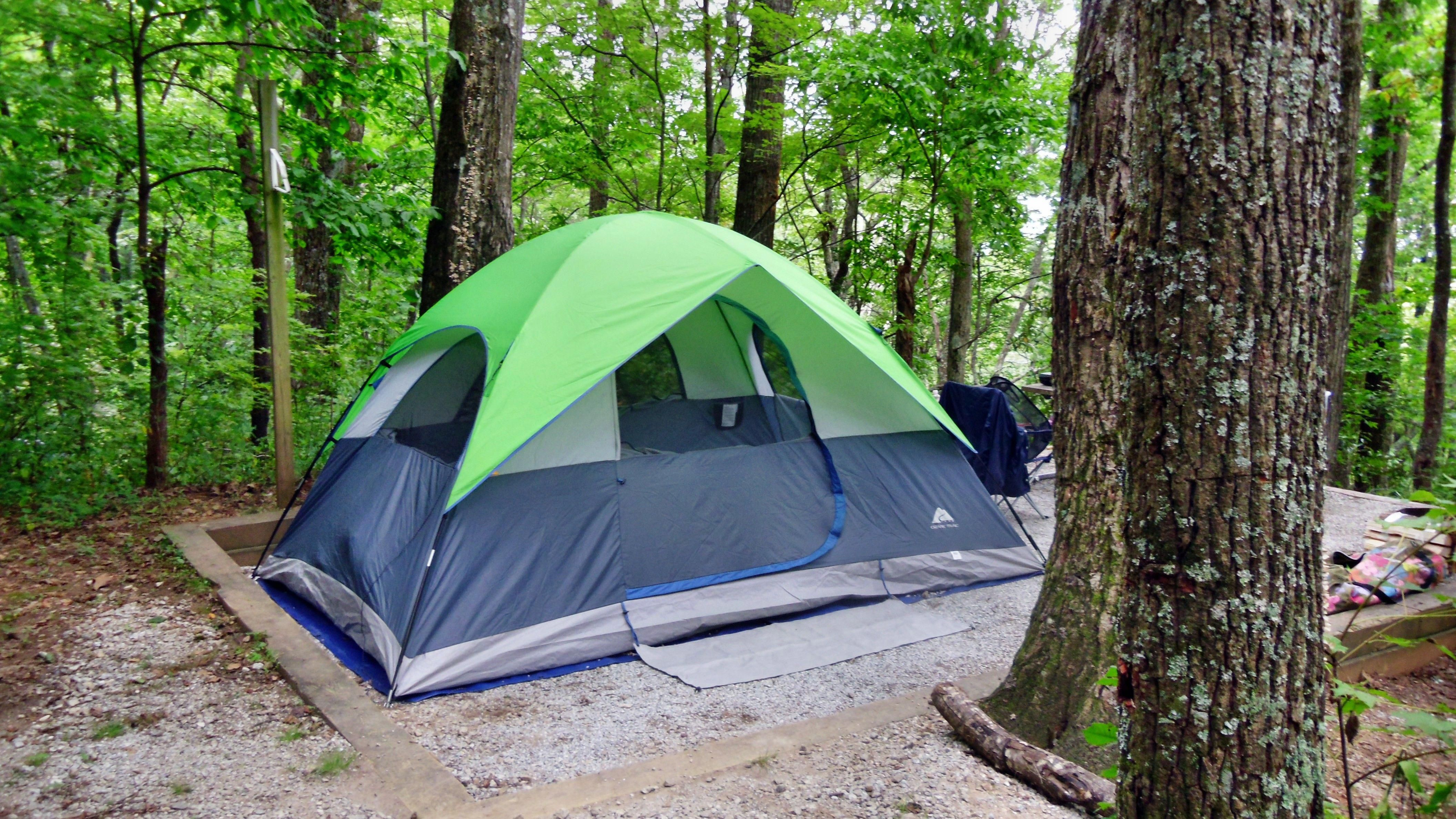 Neat camping site at Black Rock Mountain State Park in ...