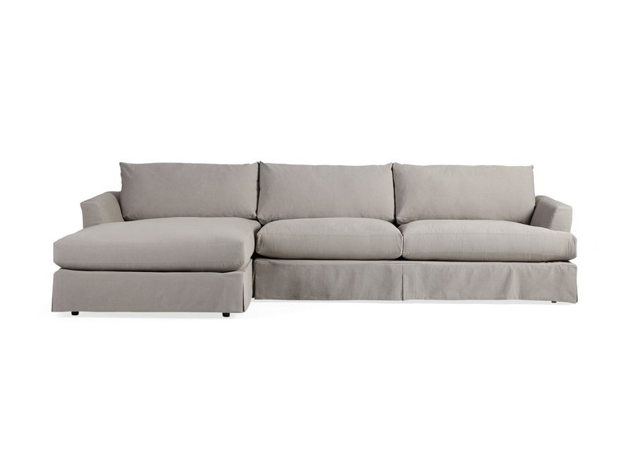 Emory 134 Two Piece Slipcovered Reverse Sectional Slipcovers Sectional Sectional Sofa