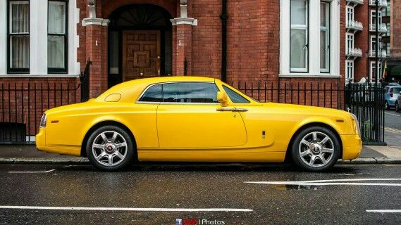 Rolls Royce Yellow Phantom Coupe Car Pinterest Rolls Royce