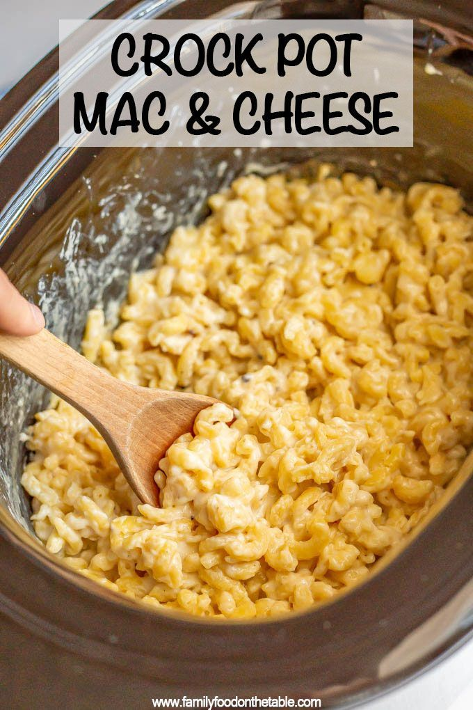 Photo of Crock pot mac and cheese – Family Food on the Table