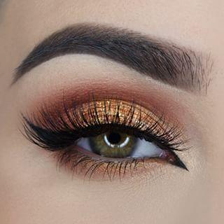 Maquillaje de ojos dorados lostruquitosdeellas Makeup Pinterest