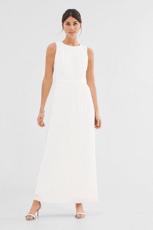 Kleid spitze plissee