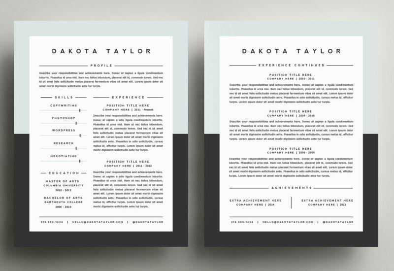 50 best cv resume templates 2020 cv resume template