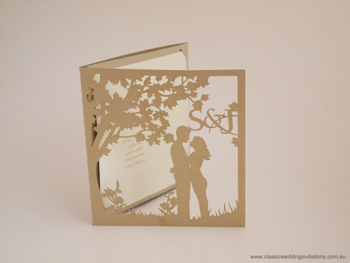 Custom lasercut wedding invitation httpwww