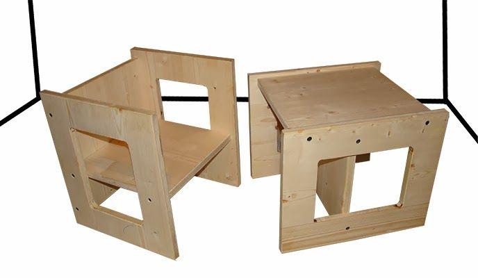 Tavolino Bimbi ~ Due sedie in legno nate da un semplice pannello multistrato che
