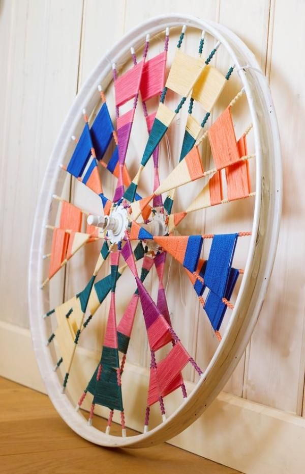 10 Creative decor ideas with recycled wheels - Little Piece Of Me #recycledart