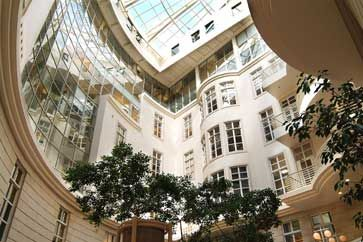 Atriums are ideal spaces for beautiful plant displays.
