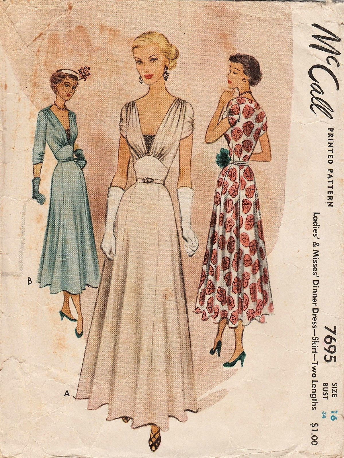 This vintage McCall sewing pattern was designed in 1949. It makes an ...