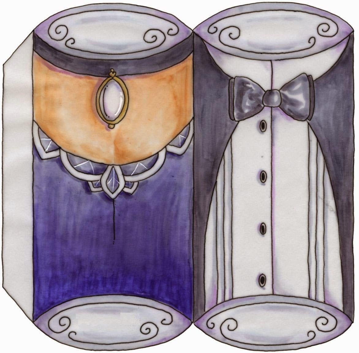 Pareja en Caricatura: Cajas Almohada para Imprimir Gratis. | Oh My Bodas!