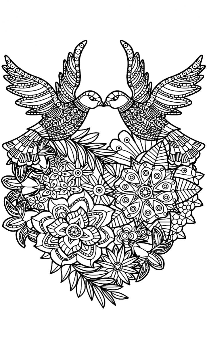 mandala coloring pages birds - photo#26