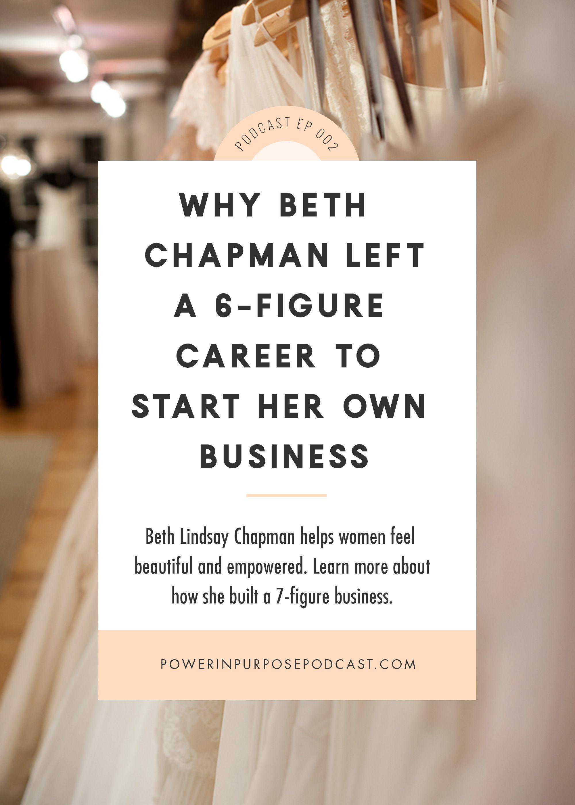 Beth lindsay chapman why she left her 6figure job to