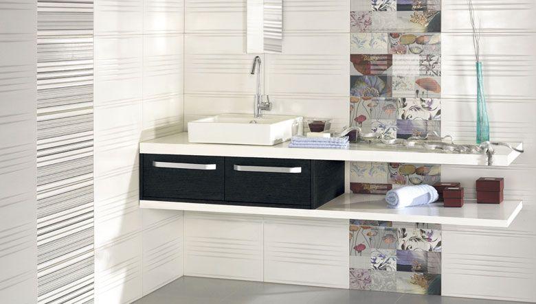 Azulejos ba os dos colores combinaci n de azulejos de dos - Azulejos para banos modernos pequenos ...