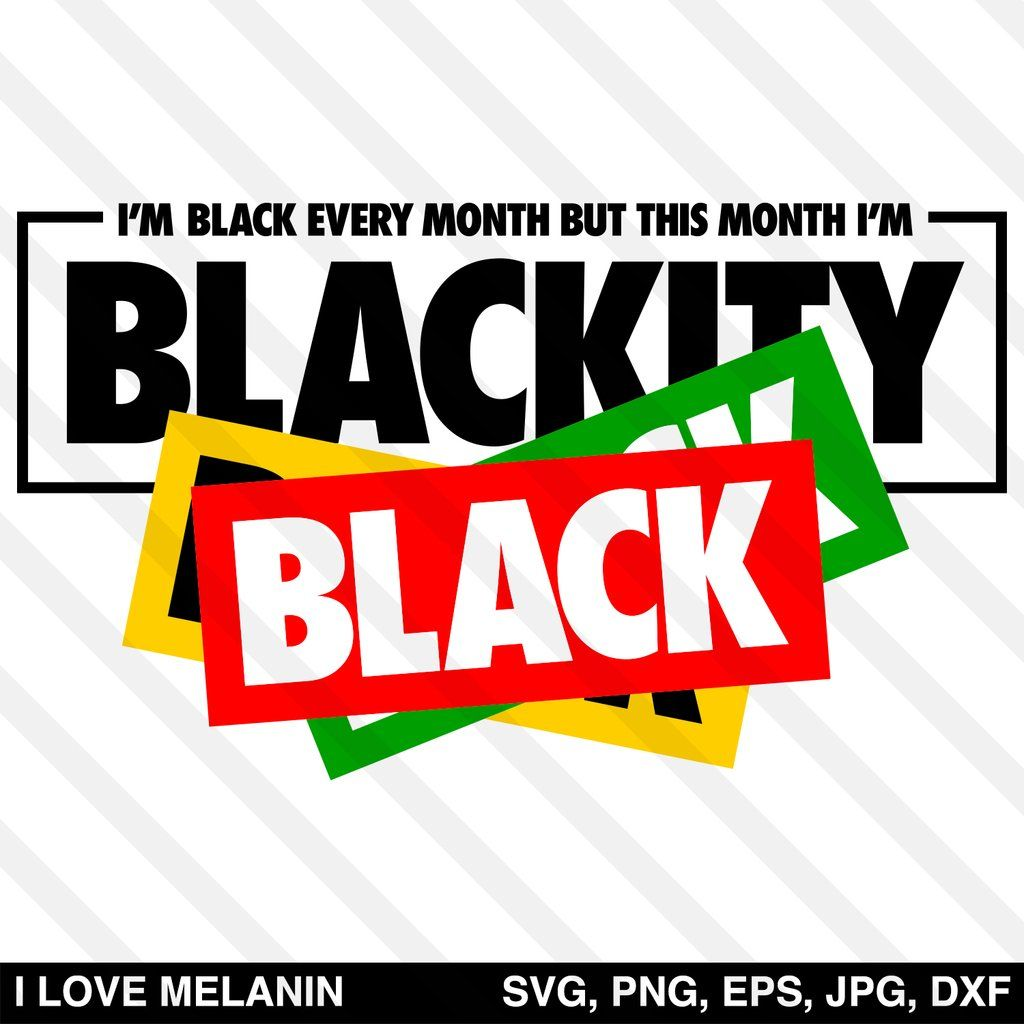 Download This Month I'm Blackity Black Black Black SVG in 2020 ...