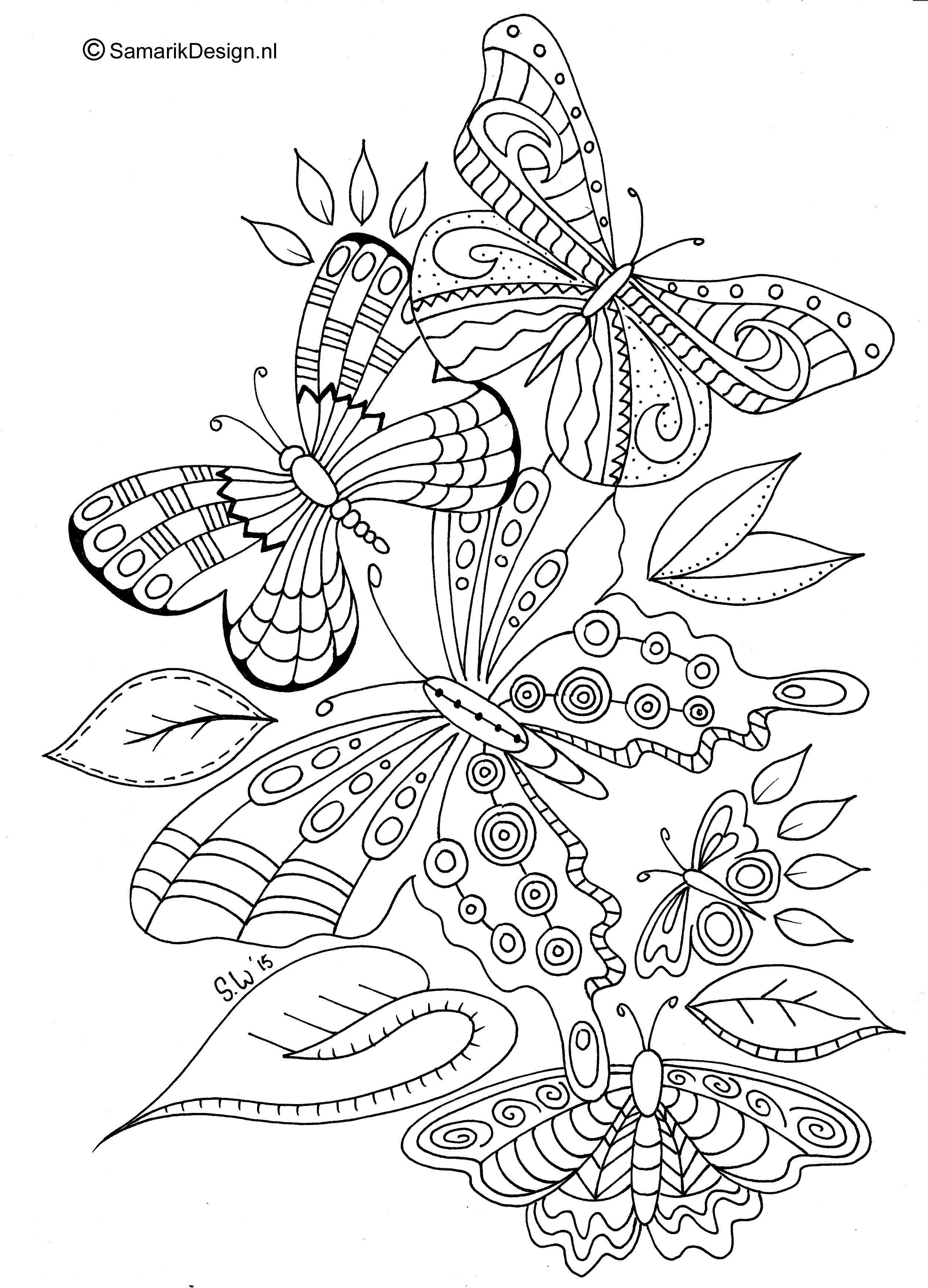 Vlinders Mandala Kleurplaten Kleurplaten Dieren Kleurplaten