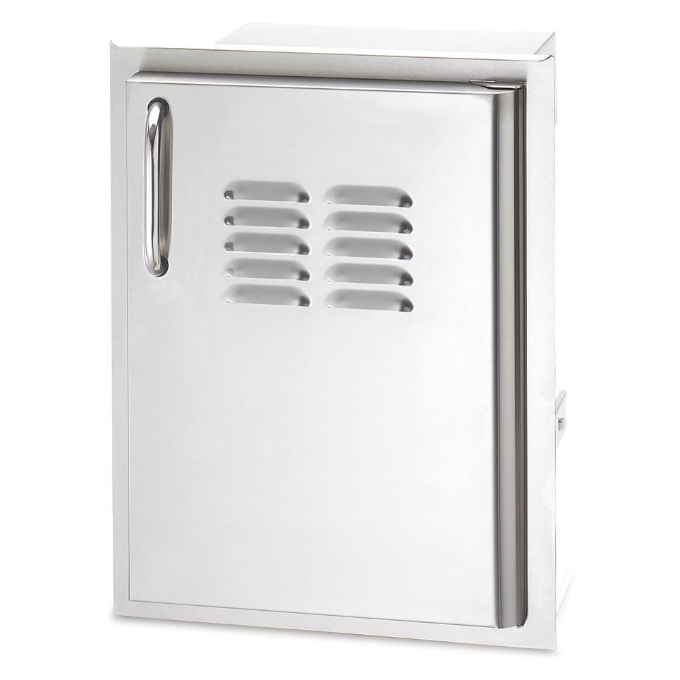 American Outdoor Grill 14 Inch Vertical Access Door Plus Tray Sleek Storage Locker Storage Hinges