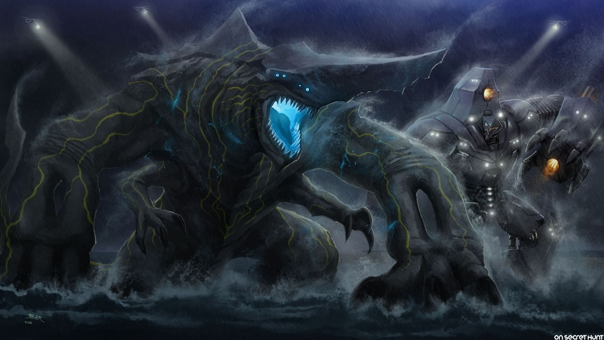 Pacific Rim Knifehead Wallpaper Pacific Rim Kaiju Batt...