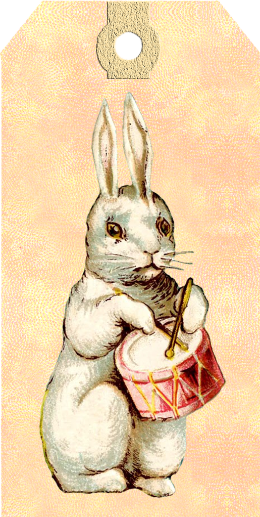 vintage easter bunny tags free printables