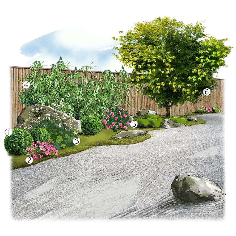 projet aménagement jardin : jardin zen   jardin   pinterest