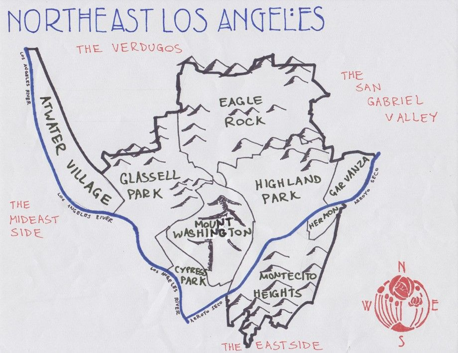 East Los Angeles Map California Fool's Gold    Exploring Mount Washington at the