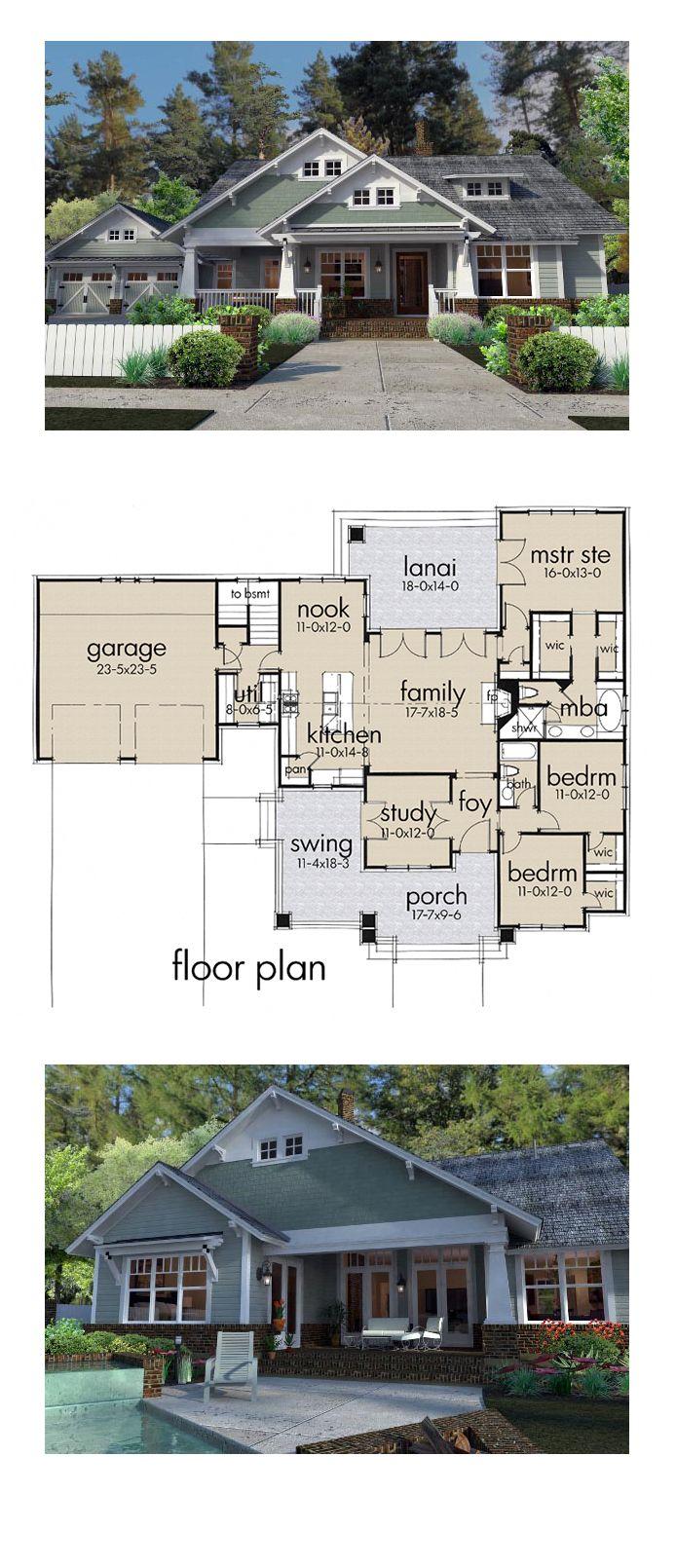 Craftsman House Plan 75137 Total Living