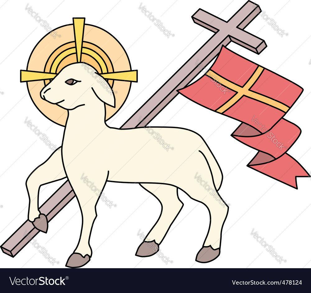 Lamb As A Symbol Of Easter Vector Image On Desenho Religioso Cordeiro De Deus Artesanato Pin