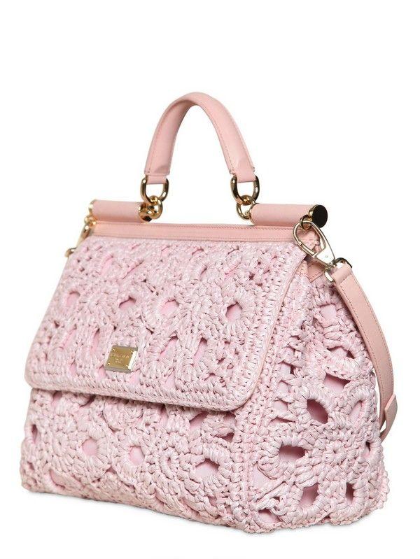 Dolce   Gabbana, Crochet Purses, Crochet Bags, Chrochet, Needlework,  Designer Bags 71f05f88cb