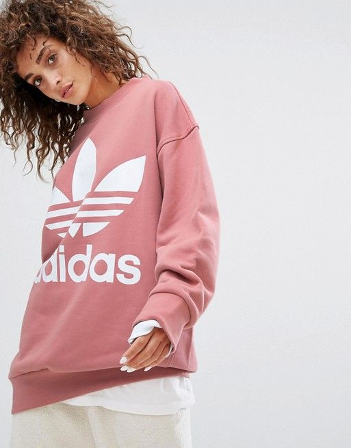 adidas dusty rose sweatshirt