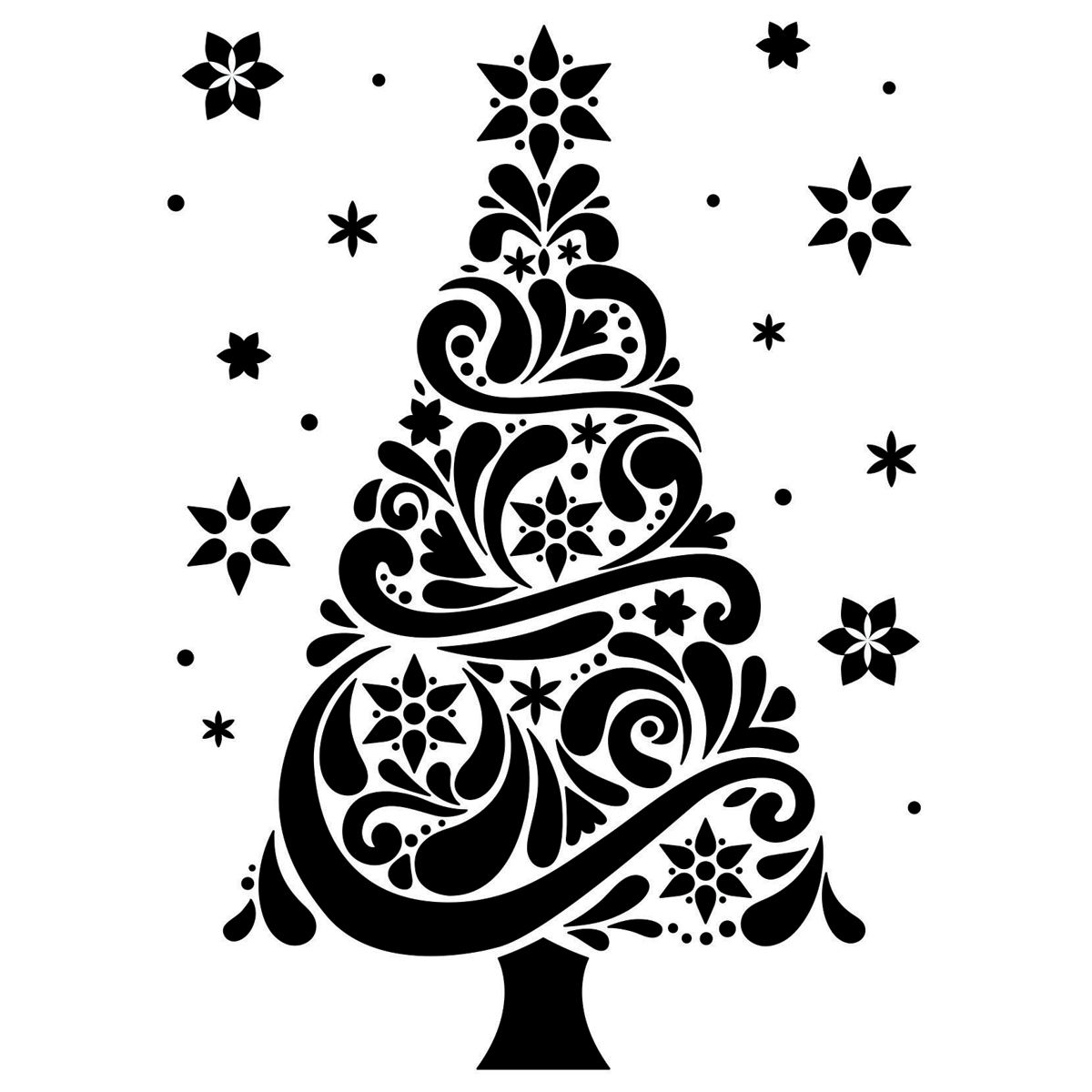 Darice Embossing Folder Christmas Tree Christmas