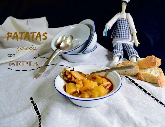 Cocinando en Mislares: Patatas guisadas con sepia