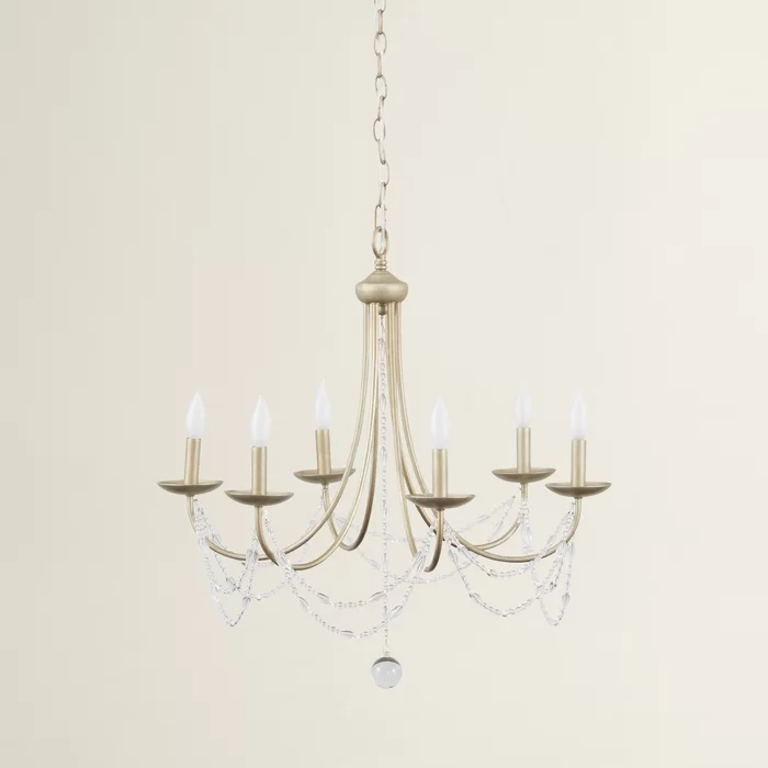 6 Light Candle Style Traditional Chandelier