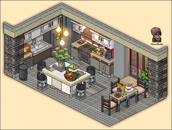 Apartment Kitchen Design By Cutiezor Deviantart Com On Deviantart Isometric Art Pixel Art Games Pixel Art Tutorial