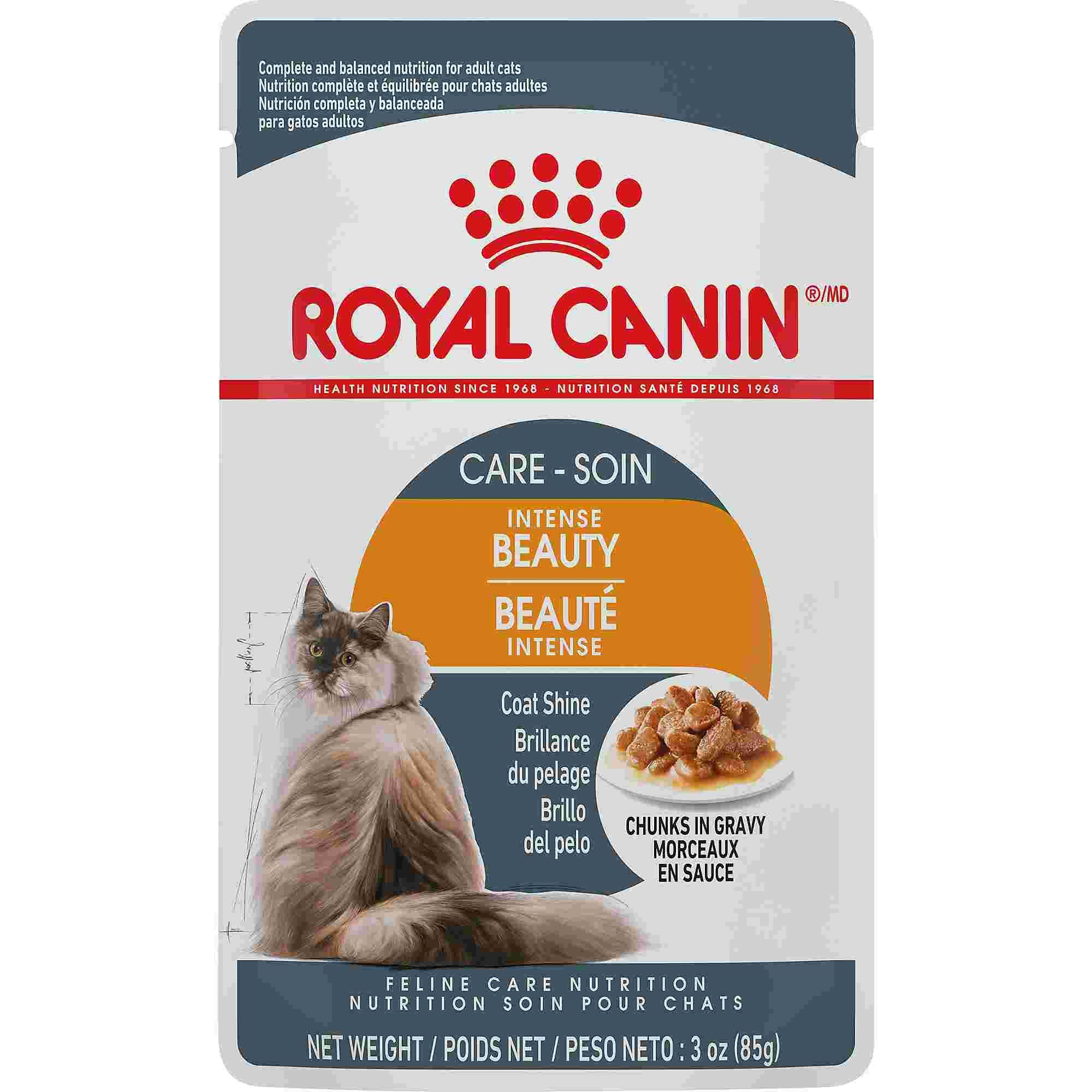 Royal Canin Intense Beauty Chunks In Gravy Wet Cat Food 3 Oz