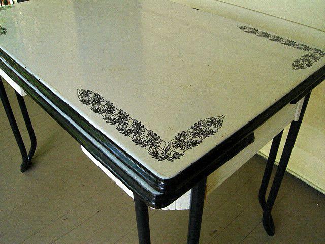 Vintage Enamel Table Vintage Kitchen Table Vintage Kitchen Accessories Retro Dining Table