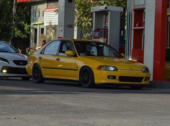 Honda Civic Sedan Yellow Vostrocommunity Genio Eg9 With Images