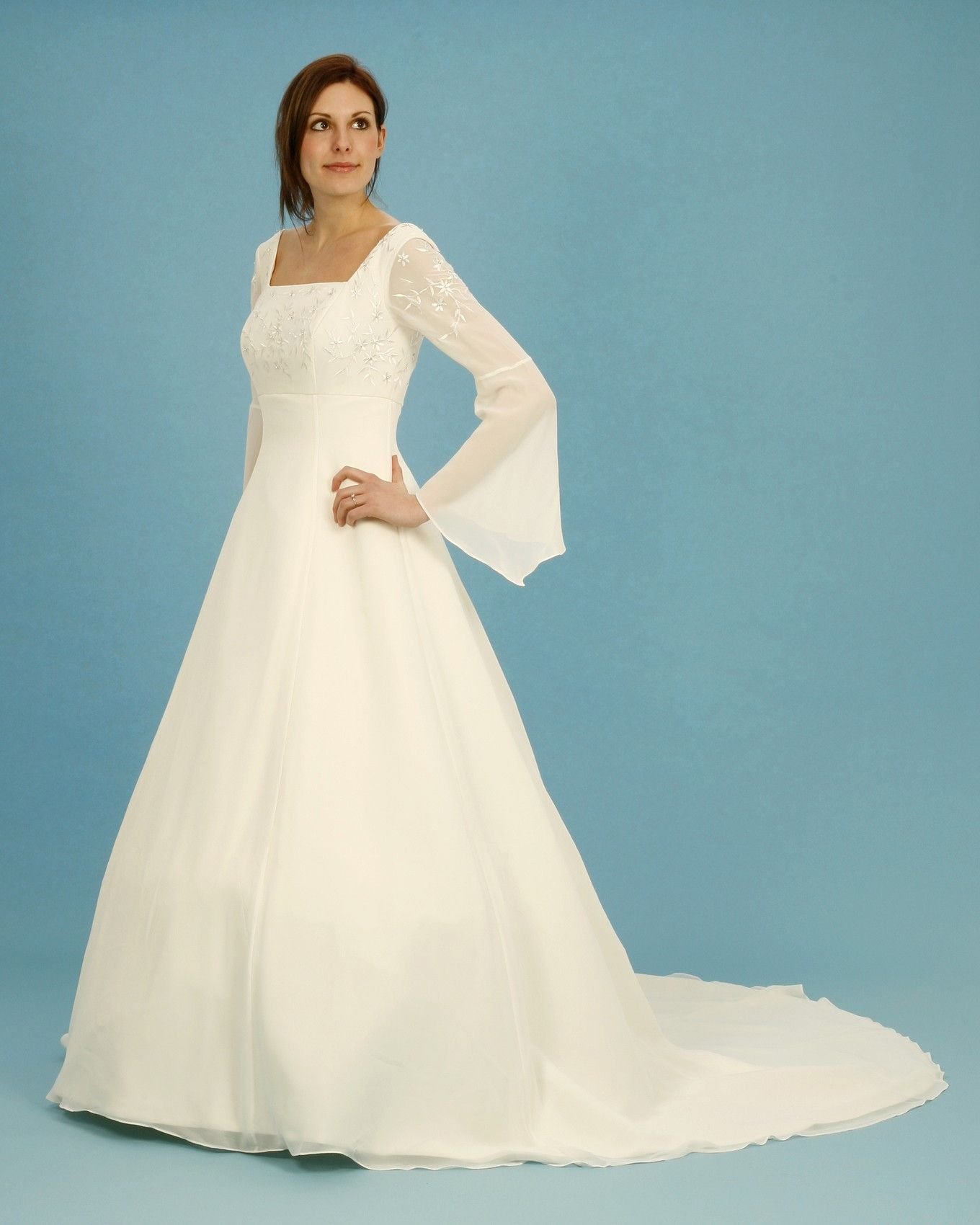 Renasscience Wedding Gowns Delivery White Medieval Style Long Sleeve Dress Uk Size 22: Meval Style Wedding Dress At Websimilar.org