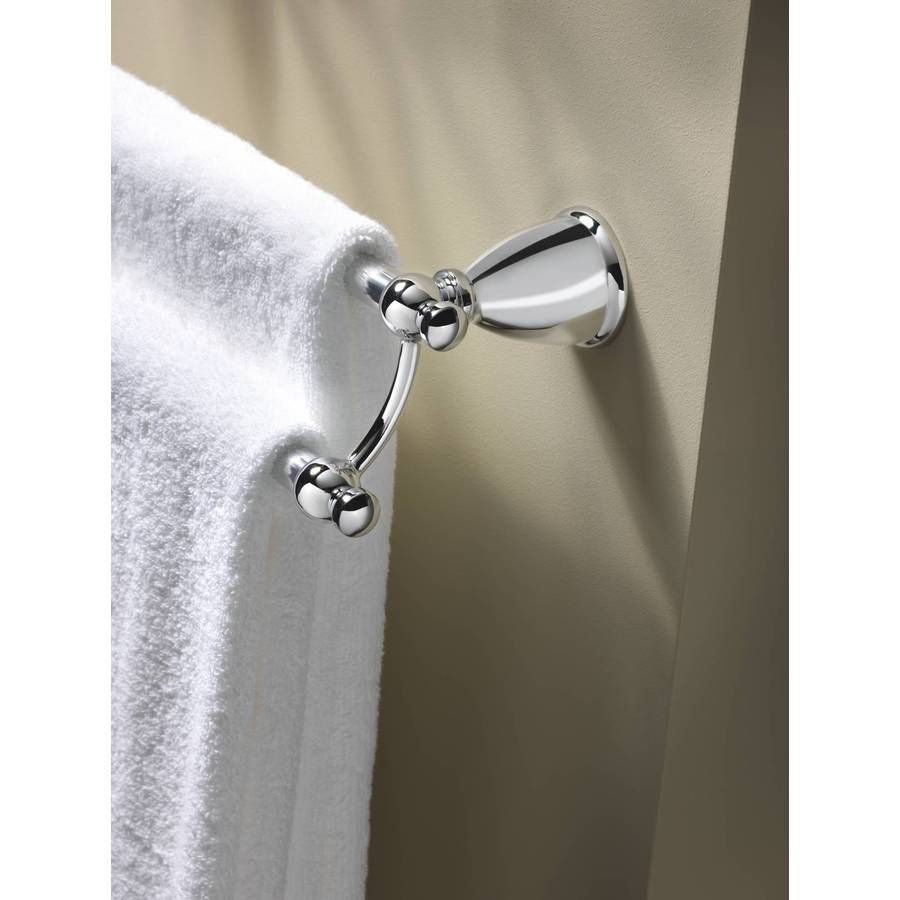 Moen Caldwell Chrome Double Towel Bar Common 24 In Actual