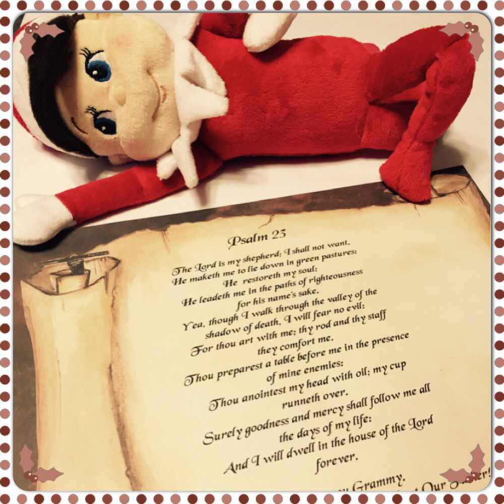 Elfie loves psalm 23 add a personal message at the