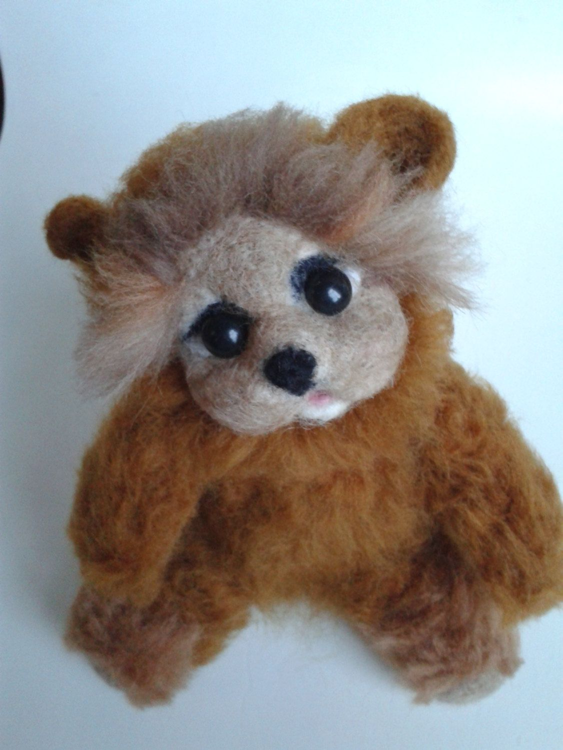 Needle felted Teddy Bear, felted Bear,gift idea, OOAK, Hand made, Unique toy Soft Sculpture , by Made4ubyJackie on Etsy