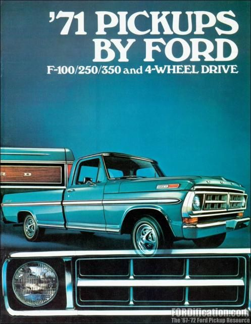 1971 Ford Truck F series pick up sales brochure | Ford