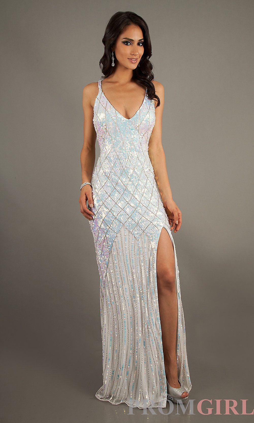 Long Sequin Prom Dresses, Primavera Sequin Formal Gowns- PromGirl ...