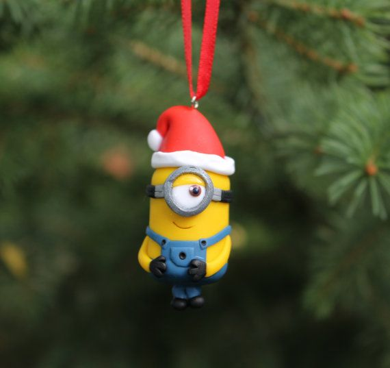minion christmas ornament by happyncute on etsy - Minion Christmas Ornament