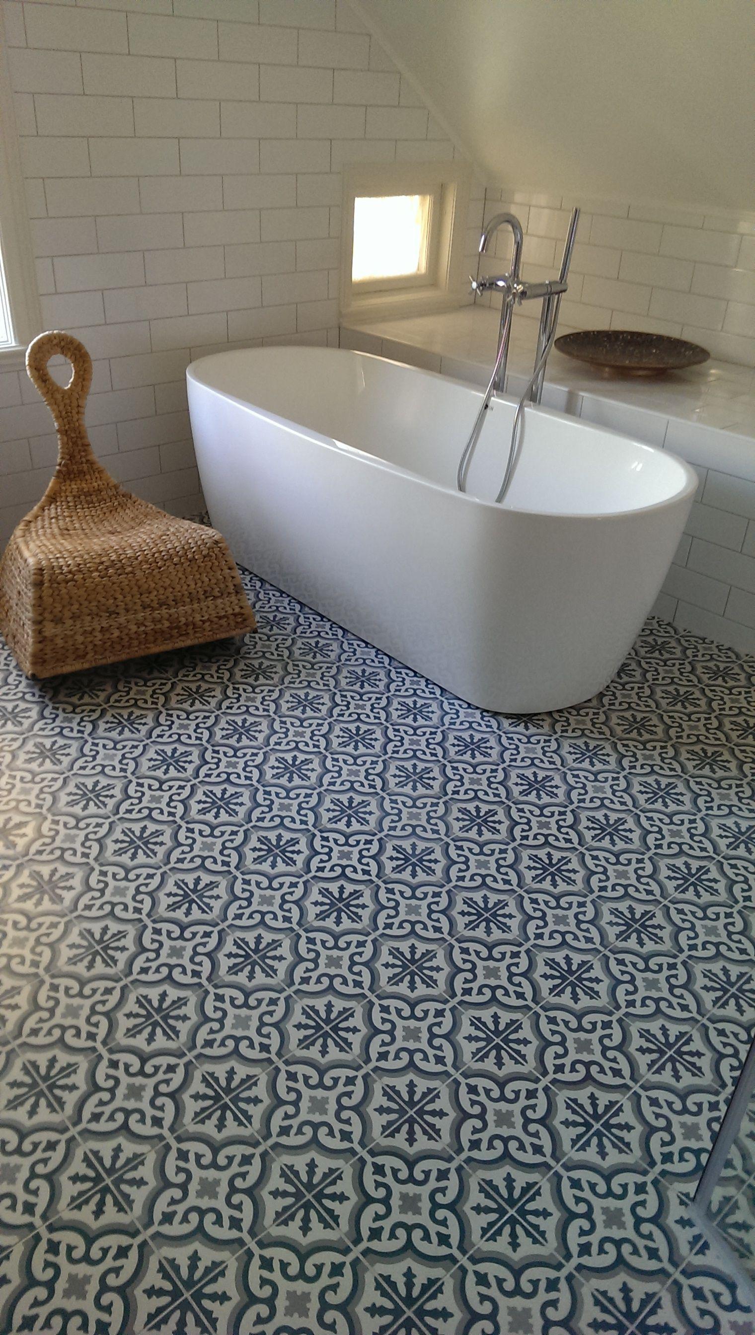 Morrocan Floor Tiles Family Room