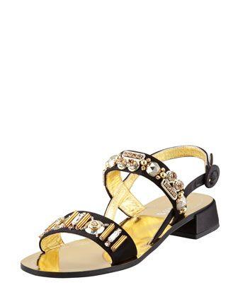 Crystal-Embellished+Satin+Sandal+by+Prada+at+Bergdorf+Goodman.