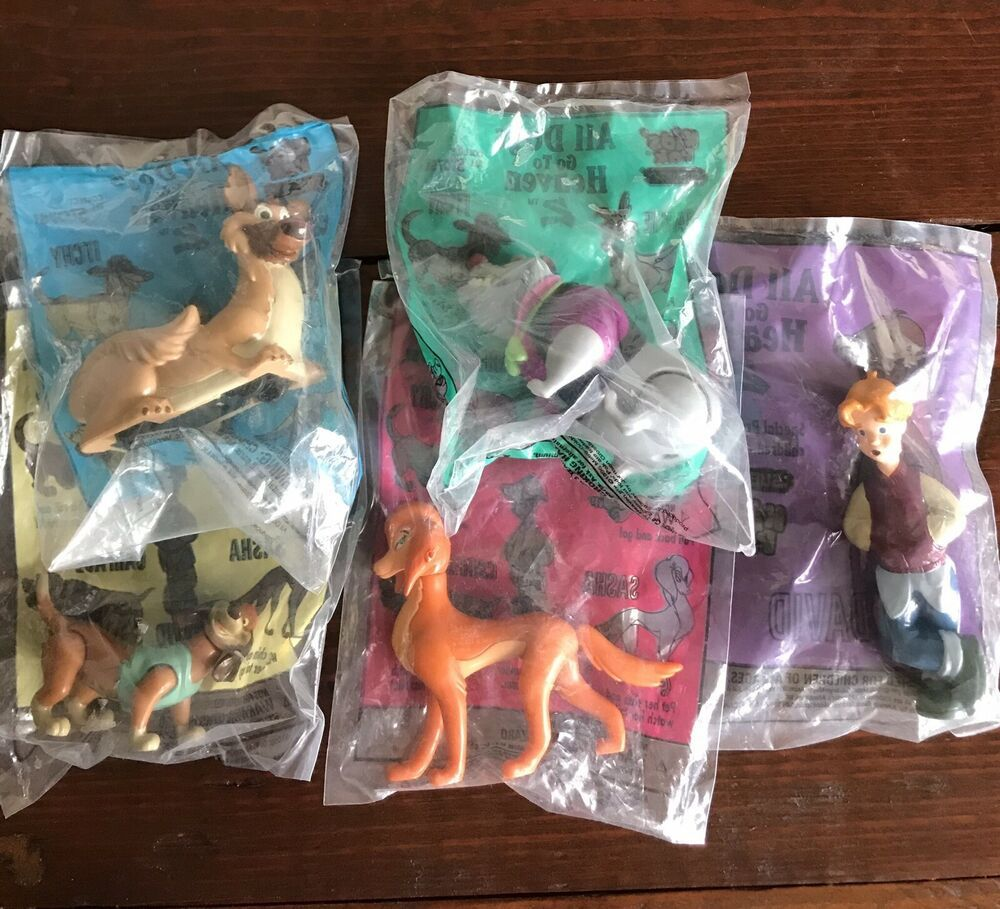 All Dogs Go To Heaven 2 Complete Set Of Figures Subway Kids
