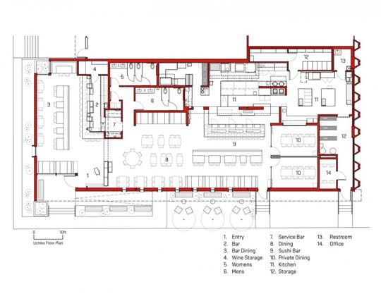 Site plan for japanese style restaurant ideas