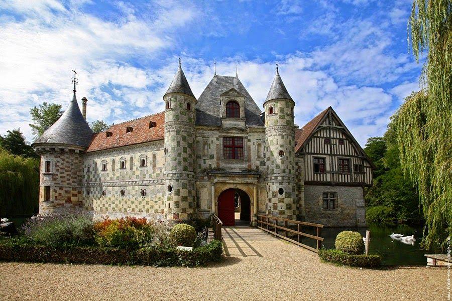 Château de St-Germain-de-Livet, Lisieux. Basse-Normandie   Francia ...