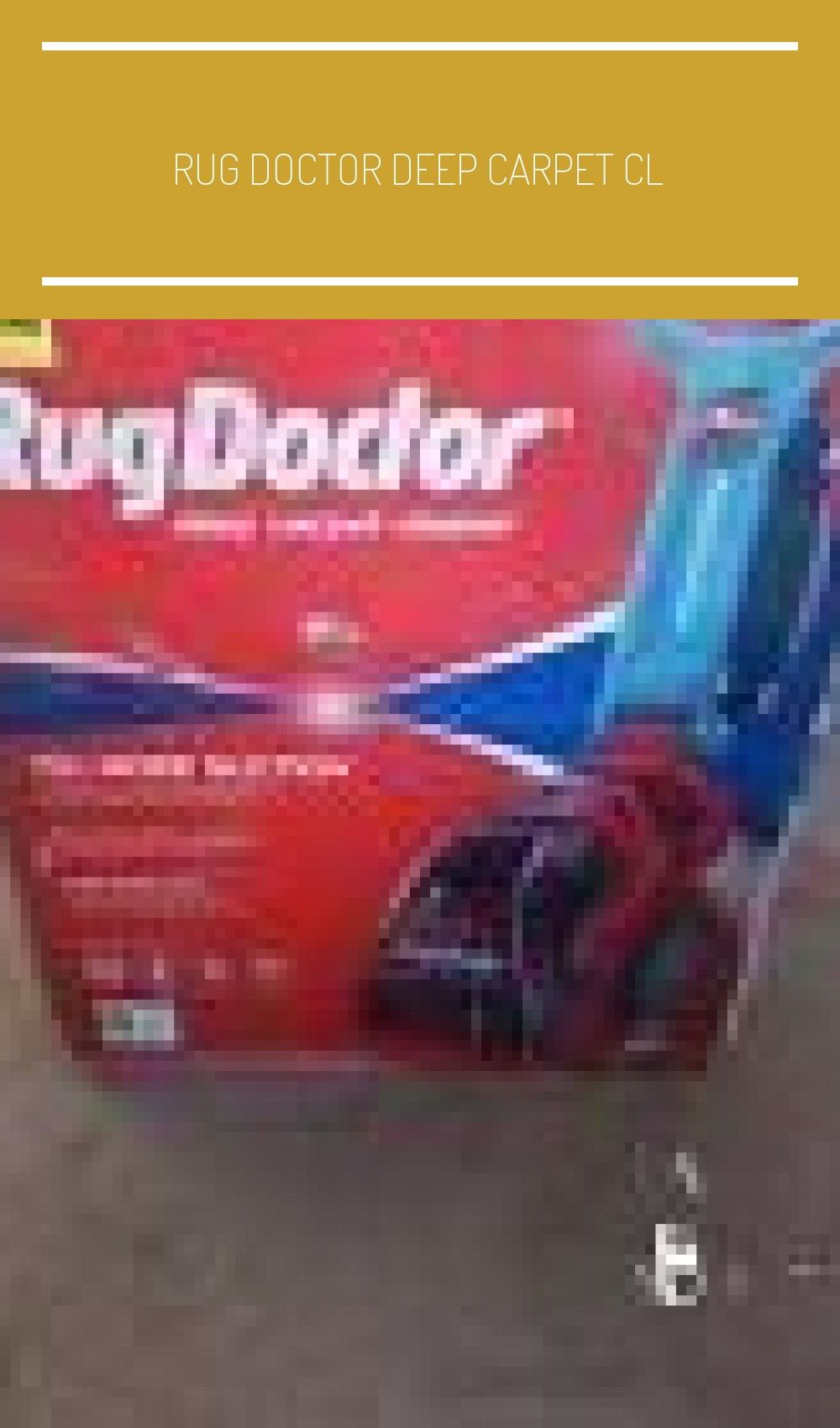 Rug Doctor Deep Carpet Cl In 2020 Natural Carpet Cleaners Carpet Cleaner Vacuum Rug Doctor